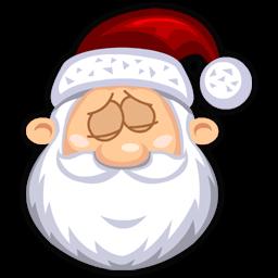 Sleeping Santaclaus Sticker