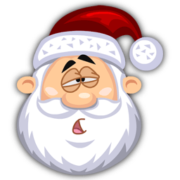 Tired Santaclaus Sticker