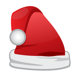 Christmas Santa Cap Sticker