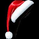 Santacornerhat Sticker