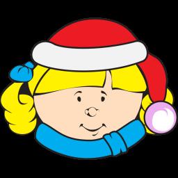 Christmas Kid Sticker