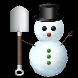 Snowman Digg Sticker