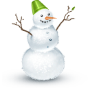 Snowman Green Bucket Sticker