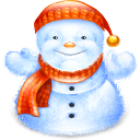 Fat Snowman Sticker
