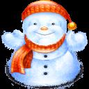 Fat Snowman Sticker