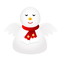 Snow Angel Sticker