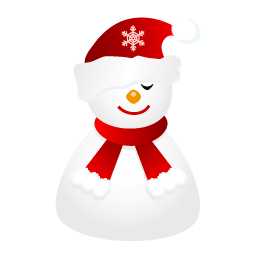 Sleepy Snowman Sticker