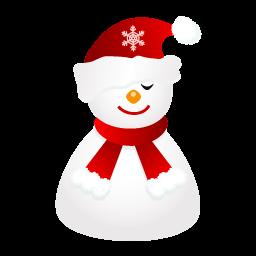 Sleepy Snowman Sticker