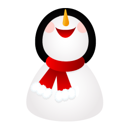 Smiling Snowman Sticker