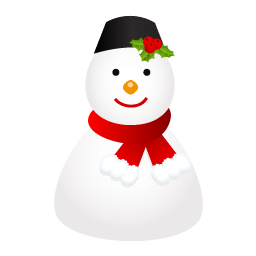 Snowman Cap Sticker