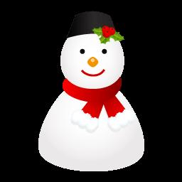 Snowman Cap Sticker