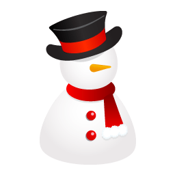 Snowman Hat Sticker