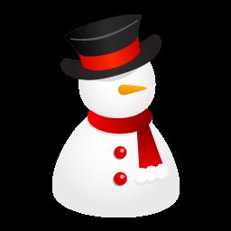 Snowman Hat Sticker