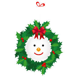 Snowman Wreath Sticker
