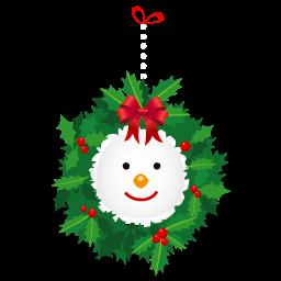 Snowman Wreath Sticker