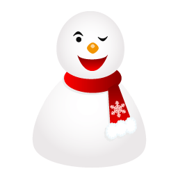 Wink Snowman Sticker