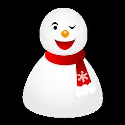 Wink Snowman Sticker