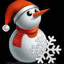 Snowman Snowflake Sticker