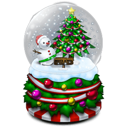 Crystal Ball Snowman Tree Sticker