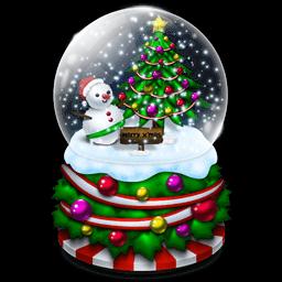 Crystal Ball Snowman Tree Sticker