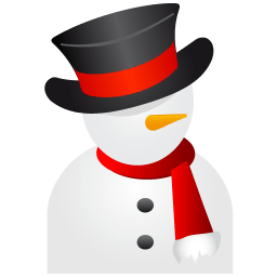 Snowman Black Hat Sticker