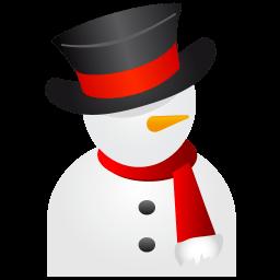Snowman Black Hat Sticker