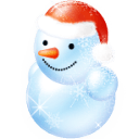 Blue Snowman Sticker