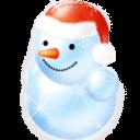 Blue Snowman Sticker
