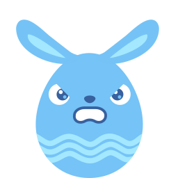 Blue Angry Sticker