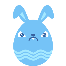 Blue Crabby Sticker