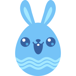 Blue Cute Sticker