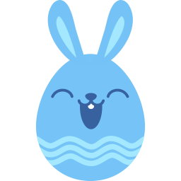 Blue Happy Sticker