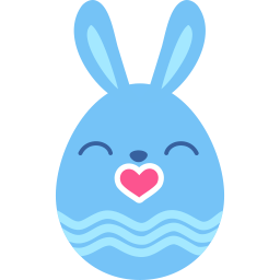 Blue Kiss Sticker