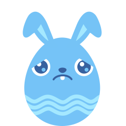 Blue Sad Sticker