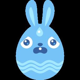 Blue Scared Sticker