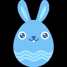 Blue Smile Sticker