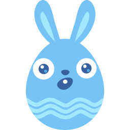 Blue Surprised Sticker
