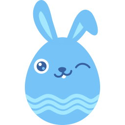 Blue Wink Sticker