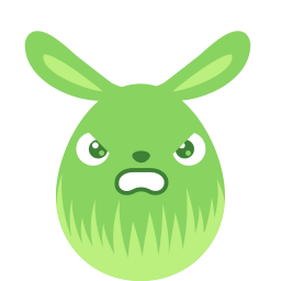 Green Angry Sticker