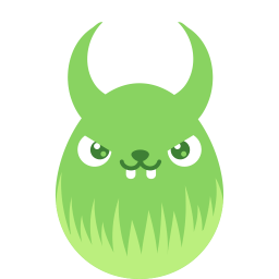 Green Demon Sticker