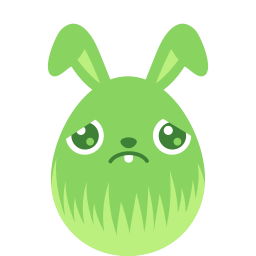 Green Sad Sticker