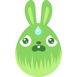 Green Scared Sticker