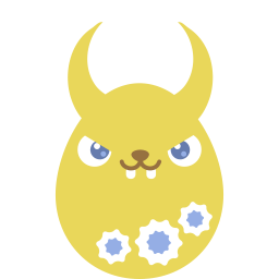 Yellow Demon Sticker