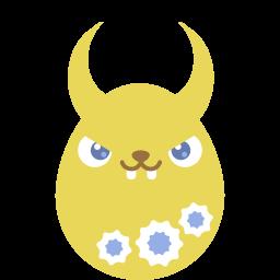 Yellow Demon Sticker