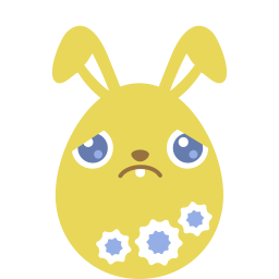 Yellow Sad Sticker