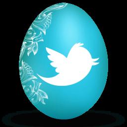 Twitter White Sticker