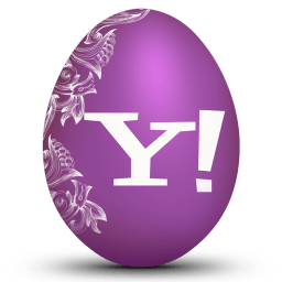 Yahoo White Sticker