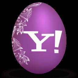 Yahoo White Sticker