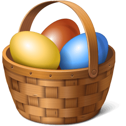 Egg Basket Sticker