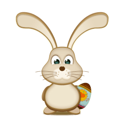 Easter Bunny Egg Sticker